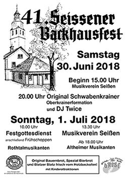 backhausfest plakat 2018