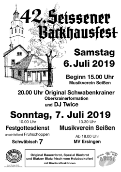 backhausfest plakat 2019